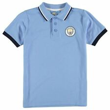 Source Lab Kids Manchester City FC Polo Shirt Junior Boys Short Sleeve Tee