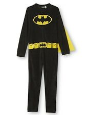 NEW Mens Size S or M Batman Zip Up Pajamas Union Suit Onesie Adult Costume +Cape