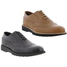 Kickers Kymbo Brogue Mens Formal Casual Black Brown Leather Shoes