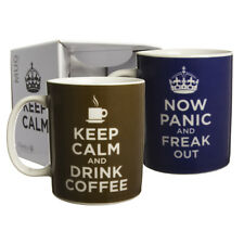 Keep Calm Funny Novelty 11oz Ceramic Coffee Mug Porcelain Humor Cup In Gift Box