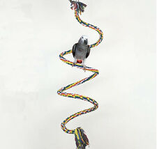 1 1.5M Pet Bird Parrot Rope Coil Swing Perches Cockatiel Conure Cage Toys HS