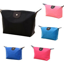 Fashion Woman Cosmetic Bags Nylon Large Volume Zipper Waterproof Lady Makeup Bag