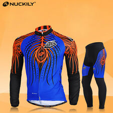 Men's Bike Cycling Clothing Cycling Jersey Pants Sets Bicycle Long Sleeve Suits