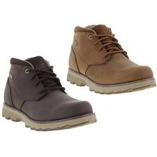 Caterpillar Cat Elude Mens Brown Waterproof Leather Ankle Boots Size UK 8-11