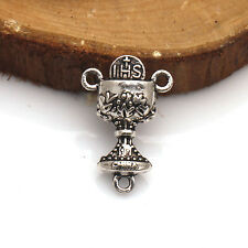 10/20/50/100 Pcs Cup Tibetan Silver Crafts Jewelry Findings Connectors