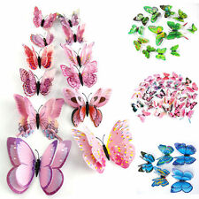 12X Colorful 3D Butterfly Decal Art Wall Stickers Room Decorations Home Decor