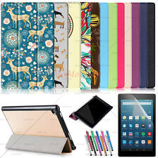 Amazon Kindle Fire Case 2016/2017 Ultra Slim Trifold PU Leather Case Smart Cover
