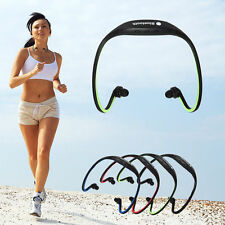 Bluetooth Wireless Headset Stereo Headphone Sport Earphone Handfree for iPhone Q