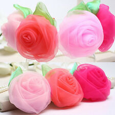 Lovely  5cm Baby Girls Chiffon Rose Flower Hair Clip Hairpin for Kids Toddler JG
