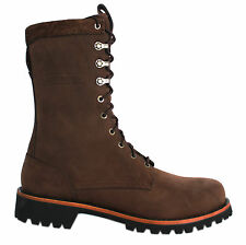 Timberland Abington 10 Inch Loggers Mens Boots Brown Leather Lace Up 82584 D43