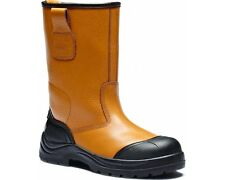 NEW MENS DICKIES COWETA SAFETY RIGGER BOOTS STEEL TOE TAN FD9211 SIZE UK 6 - 12