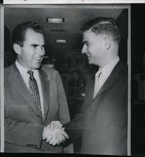 1959 Wire Photo Governor Mark Hatfield shaking hands with Vice President Nixon