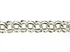 Charm Bracelet Sweet Sterling silver or GF heavy double link box clasp safety