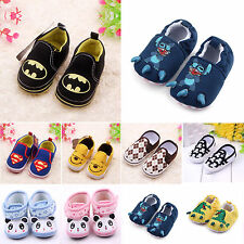 Baby Boy Casual Soft Sole Marvel Heroes Crib Shoes Girl Prewalker Cartoon 0-18 M