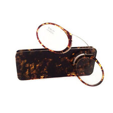 TT/ Portable fashion reading glasses Pince Nez Reading Glasses Tide Mini glasses