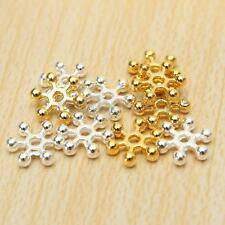100pcs Wholesale Silver & Golden Flower Daisy Spacer Beads - Choose 6MM,8MM,10MM