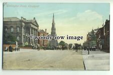 tp9320 - Cheshire - Early View of Wellington Road & Church, Stockport - postcard