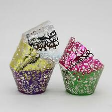 50Pcs Butterfly Cake Muffin Wrapper Cup Cupcake Liner Case Wedding Party 3 Color