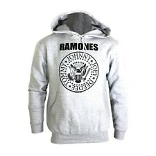 Official Ramones Presidential Seal Pullover Grey Hoodie - Logo Sweater Music