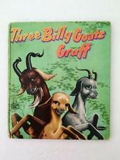 Three Billy Goats Gruff Book Vintage 1954 Tell a Tales Whitman Childrens Book