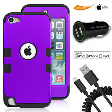 iTouch 6th [3 IN 1] 2.4A Fast Car Charger,Hybrid Case,MFI Spring Lightning Cable