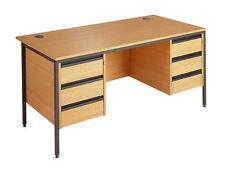 Maestro Straight H Frame Desk with 3 & 3 Drawer Fixed Pedestals H6P33 1532mm