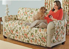 LOVESEAT EDEN ULTIMATE FURNITURE PROTECTOR PET SLIP COVER SOFA  IVORY