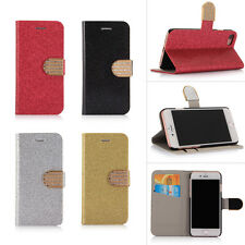 Luxury Glitter Magnetic Folio Wallet PU Leather Case Cover Stand for iPhone 7