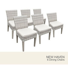 6 New Haven Armless Dining Chairs - Beige