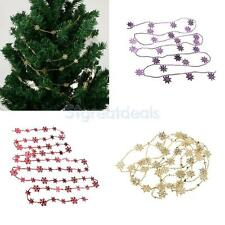 Tinsel Snowflake Bead Garland Christmas Tree String Chain Decoration Gift Favor