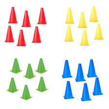"6 x 6.7"" Traffic Agility Cones 7 Colors Markers Safety Soccer Football Baseball"