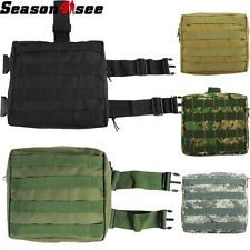 9 Color Airsoft Molle Utility Tactical Drop Leg Panel Pouch Thigh Bag ACU/TAN/WD