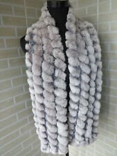 2016 real rex rabbit fur scarf /braid cape/ shawl / collar soft and warm 5colors