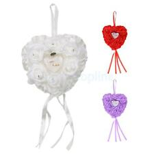 European Style Heart Shaped Crystal Flower Wedding Ring Pillow Wedding Favors