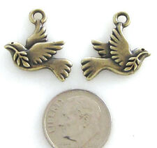 TierraCast Pewter Charms-BRASS OXIDE PEACE DOVE (2)