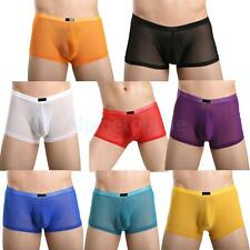 Sexy Men Boxer Briefs Underwear Stretch Trunk Short Bulge Pouch Mesh Underpants