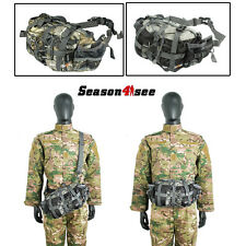 Camouflage Shoulder Waist Bag Sport Backpack Bionic Camping Hunting Pouch Pack