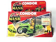 VINTAGE | KENNER | M.A.S.K. CONDOR MOTORCYCLE HELICOPTER PLANE TOY SET | W/BOX
