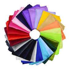 NEW Satin Pocket Square Hankerchief Plain Solid Color Hanky Wedding Party A87