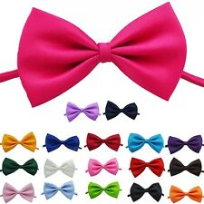 Mens Kids Childrens Adjustable Pre Tied Satin Wedding Party Bow Ties Bowties New
