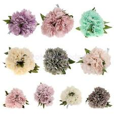 Artificial 5 Head Silk Peony Flower Bouquet Home Party Wedding Decor 10 Colors