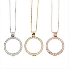 35MM Pendant Crystal Locket Women  Handmade Jewellery MY Coin Necklace Charm
