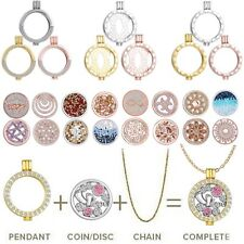 2018 Xmas Mi Disc My Coin/Locket Pendant Holder/Chain For DIY Crystal Necklace