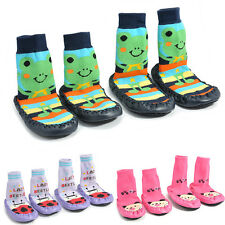 New Cute Baby Kids Toddler Home Anti-slip Boots Slipper Socks Shoes 6-24 Months