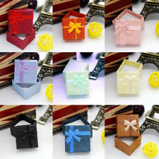 Chic 5Pcs Ring Earring Necklace Square Jewellery Gift Case Boxes Display Package
