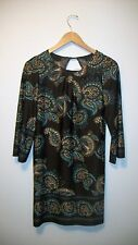 Alyn Paige tunic dress size small brown stretch long sleeve