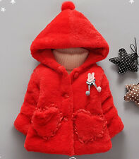 Toddler Baby Girls Warm Coat Christmas angel Jacket Winter Hooded Outerwear Tops