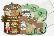 Woodland Baby Shower Invitations - Forest Friends Baby Shower Invitations