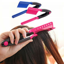 New Salon Hairdress Styling Hair Straightener V Comb Flat Irons Straightening ZX