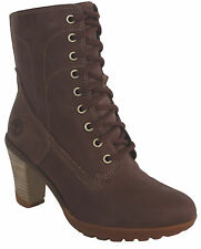 Timberland Stratham Heights Low Lace Brown Leather Womens Boots (28671 U112)